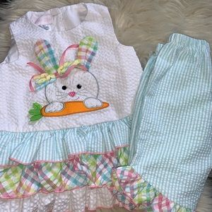 Girls Bonnie Baby Easter Bunny Outfit Set 18 mtn
